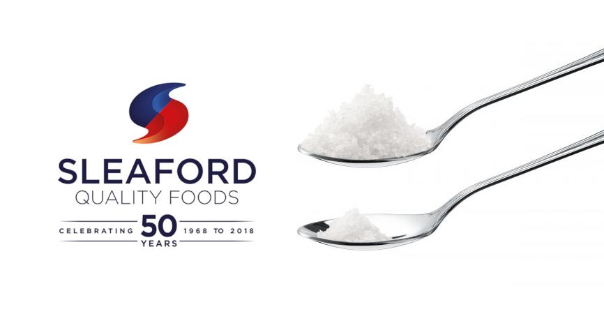 Sleaford 50 years logo