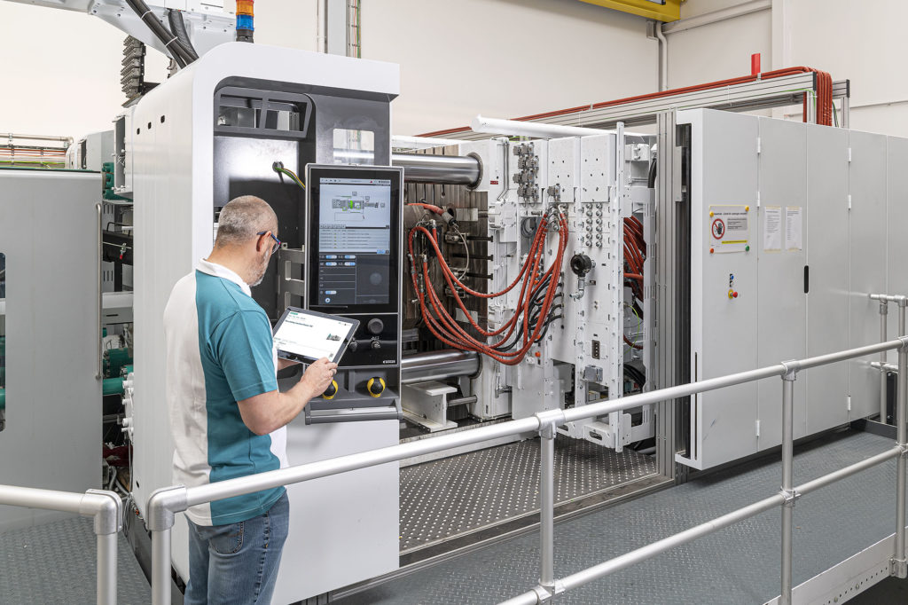 Fusion at Bühler's new Die Casting Application Center in Uzwil, Switzerland. Bühler's next-generation, three-platen die-casting platform is a key development of Bühler's vision of the Digital Cell.