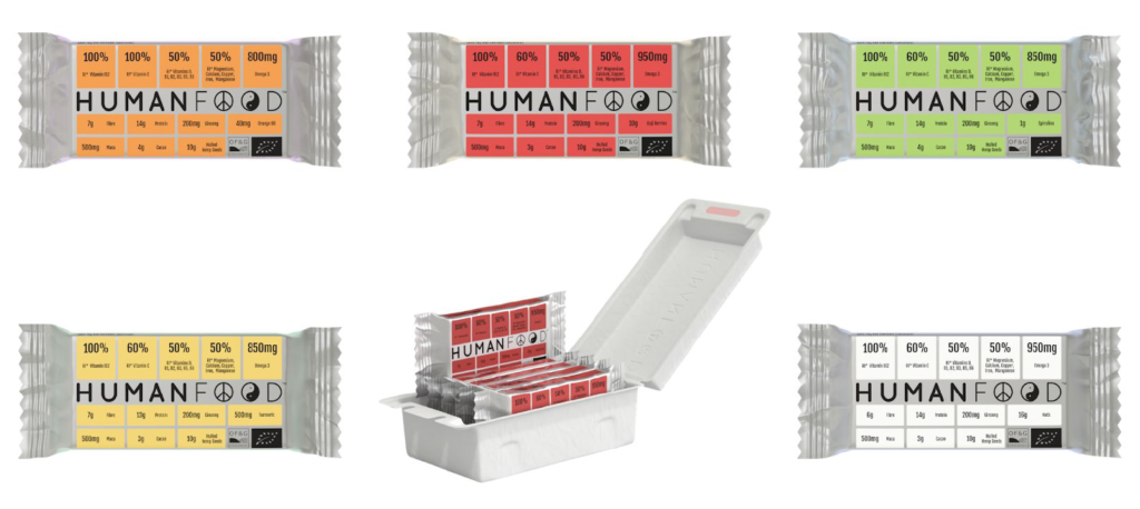 Human Food - 6 difference bars