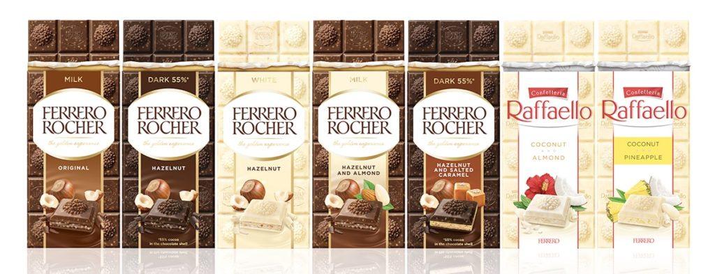 Ferrero Rocher and Raffaello available in premium chocolate bar format